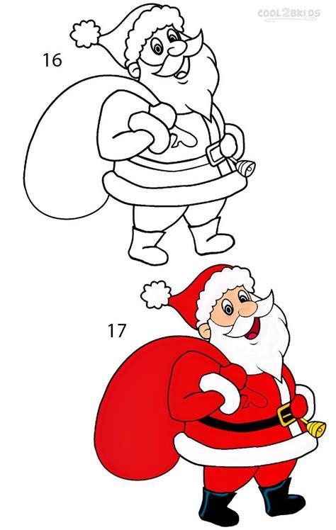 draw santa clause step  christmas drawing santa