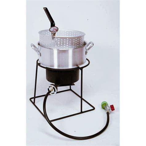 fryer fish deep king kooker quart cooker fry welded package pan aluminum cooking grill 1205 lf hash