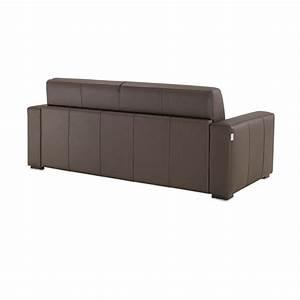 Canapé Convertible Cuir : canap lit en cuir ouverture rapido matelas 14 cm petit ~ Dode.kayakingforconservation.com Idées de Décoration