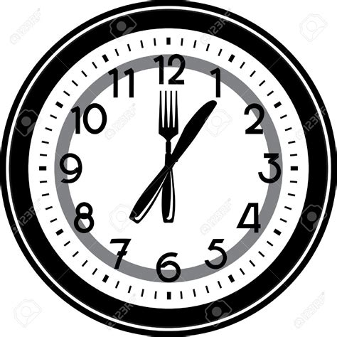 Clipart Time by Clock Clipart Lunch Time Pencil And In Color Clock