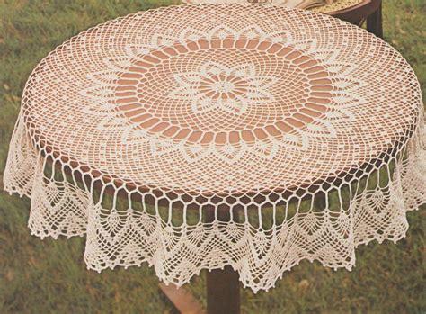 faire une nappe ronde crochet nappe ronde et ovale le de crochet et tricot d de suzelle