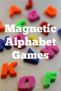 magnetic alphabet games teaching letter recognition With magnetic letter games