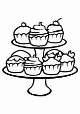 Cupcake Coloring Cupcakes Pages Easy Tulamama sketch template