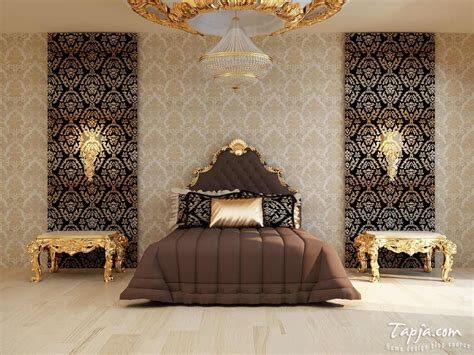 Bedroom Decorating Ideas Brown And Gold by Modern Bedroom Decoration With Gold Color Accent And Brown