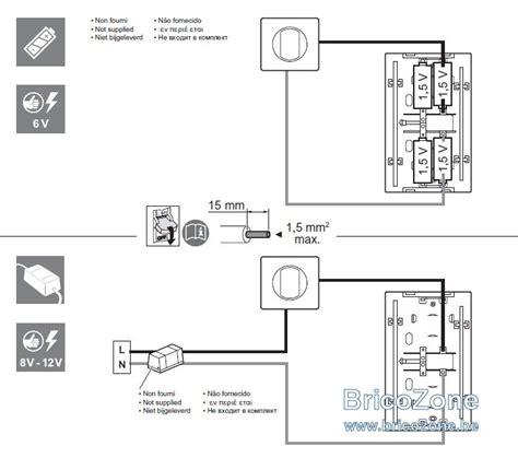 branchement carillon 12v ou piles legrand