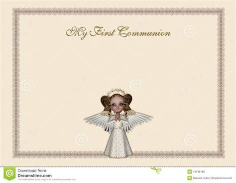holy communion invitation stock illustration image