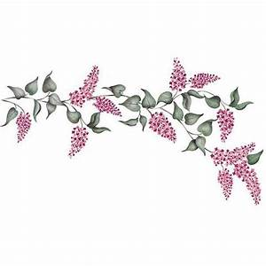 Flower Stencils   Lilacs Floral & Vine Stencil   Royal ...