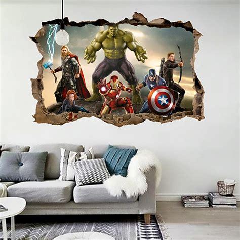 cartoon  avengers wall stickers  kids rooms home