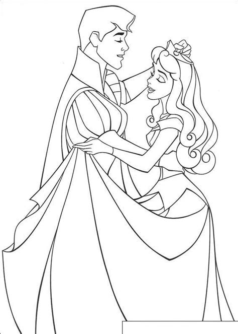 beauty princess aurora coloring pages