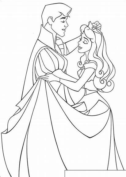Beauty Aurora Coloring Princess Pages Disney Colouring