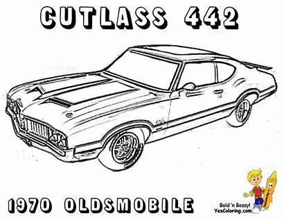 Coloring Pages Muscle Rod Brawny Cars Sheets
