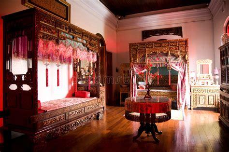 Old Chinese Wedding Chamber Stock Image  Image Of Wood