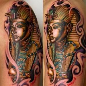 Awesome Egyptian tattoo! Love King Tut! -MB | Tattoos ...