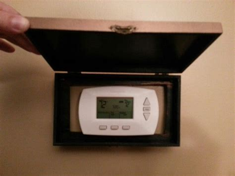 How to clean a thermostat. A neat and decorative way of hiding your wall thermostat ...