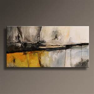 Große Bilder Auf Leinwand : 48 gro e original abstrakt gelb grau malerei auf leinwand ~ Lateststills.com Haus und Dekorationen