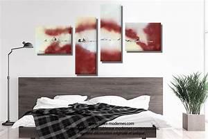 Tableau Pour Chambre Adulte : tableau bordeaux gris grande d coration murale panoramique nouvelle vie dans l 39 espace ~ Melissatoandfro.com Idées de Décoration