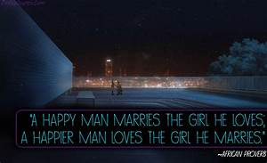 A happy man mar... South African Marriage Quotes