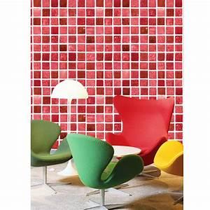 Tapete Auf Fliesen : tapete selbstklebend dekofolie mosaik fliesen rot 100cm ~ Michelbontemps.com Haus und Dekorationen