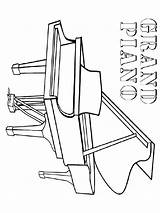 Piano Coloring Grand Printable Mycoloring sketch template