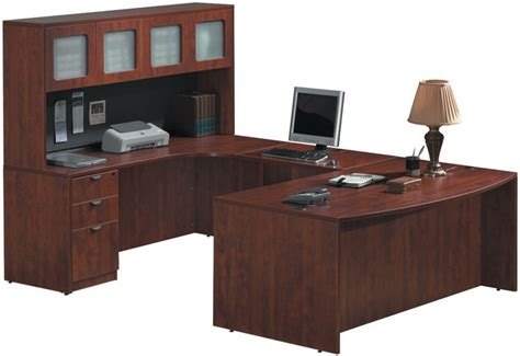 $1,287 U Shaped Desk With Hutch By Office Source Office