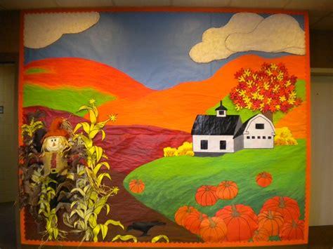 fall boards preschool bulletin board barn instead of a church bulletin 884