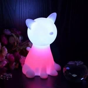 Lampe De Chevet Sans Fil : lampe de chevet chat led sans fil rechargeable multicouleurs achat vente lampe de chevet ~ Teatrodelosmanantiales.com Idées de Décoration