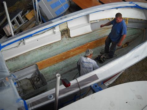 Flat Bottom Boat Transom Repair by Fiberglass Boat Stringer Repair And Replacement At