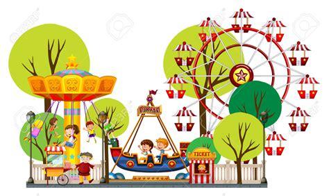 Park Clip Amusement Park Clipart Theme Park Pencil And In Color