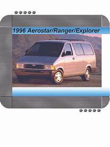 Ford Aerostar  Ranger  Explorer 1996 Factory Service  U0026 Shop