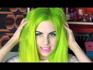 Lime Green Hair Transformation