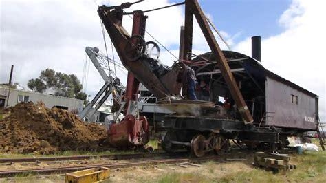 Bucyrus 65 ton rail mounted steam shovel - Part 2/2 ope ...
