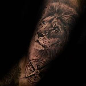 60 Lion Sleeve Tattoo Designs For Men - Masculine Ideas