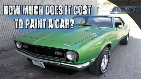 cost  paint  car youtube