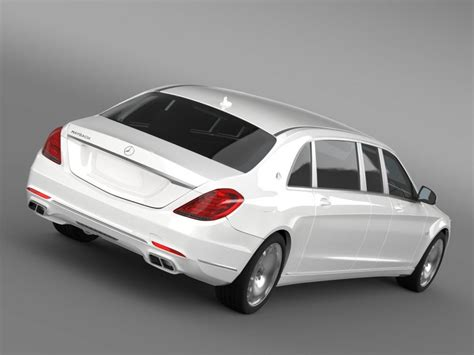 Mercedes Maybach Pullman 2016 3d Model