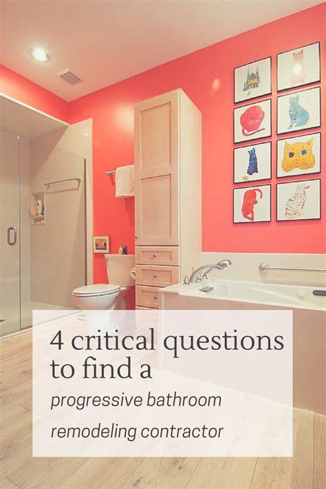 critical questions  find  progressive bathroom