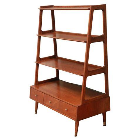 mid century modern bookcase mid century teak bookshelf at 1stdibs