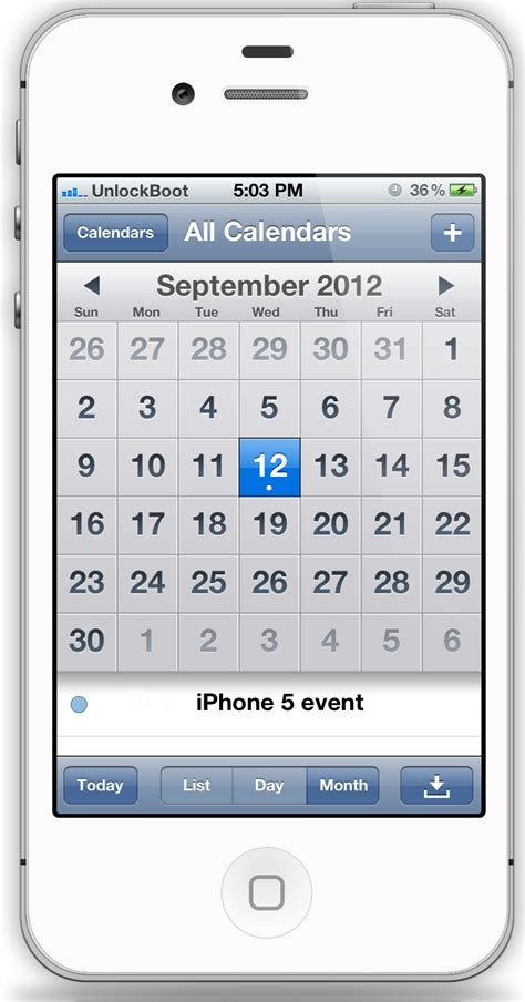 calendar on iphone imore iphone 5 event planned for september 12 launch on