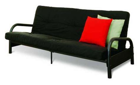 futon sofa bed walmart canada mainstays black metal frame futon with 6 inch mattress