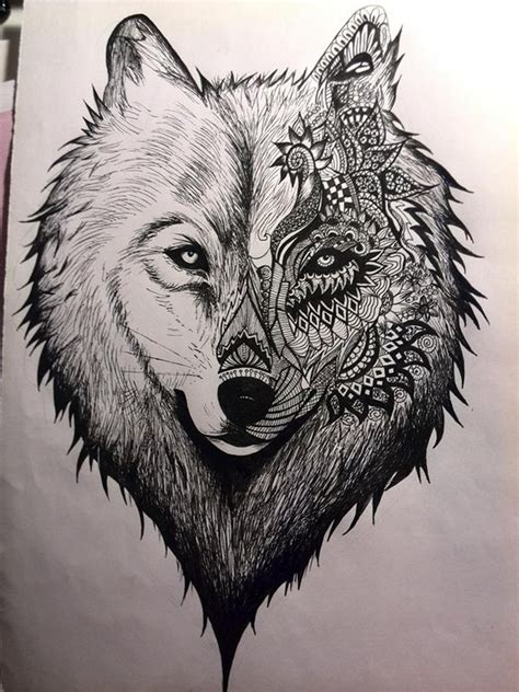 wolf drawing creative art drawing skill