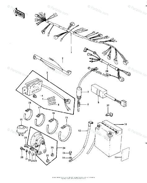 kawasaki motorcycle  oem parts diagram  chassis