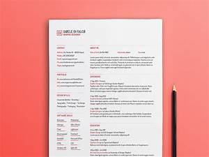 Free Simple Typographic Resume Template With Clean Design