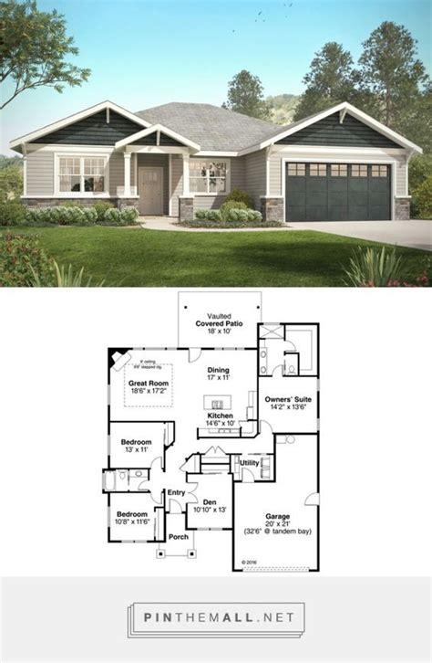 pin  angela jones  house plans   craftsman style house plans house plans ranch