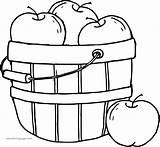 Coloring Fall Apple Pumpkin Candy Printable Sheets Kindergarten Bucket Wecoloringpage sketch template