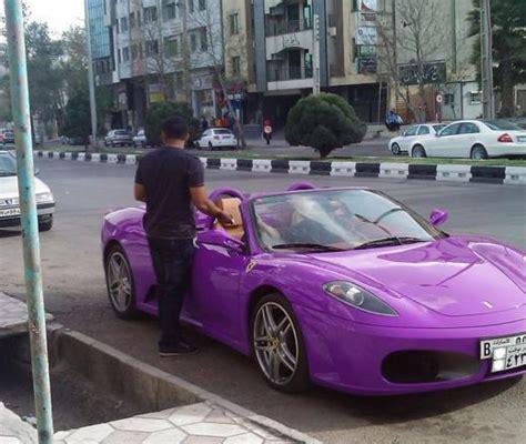 Introduced in 2013, the ferrari la ferrari represents ferrari's most ambitious project. Photo: Purple Ferrari F430 in Iran