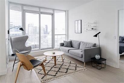 Minimalist Living Space Condo Bright Scandinavian Decor