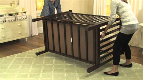 pottery barn kids drop side crib conversion kit  youtube