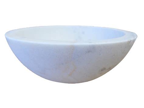 Eden Bath Small Vessel Sink Bowl  Honed White Marble Eb