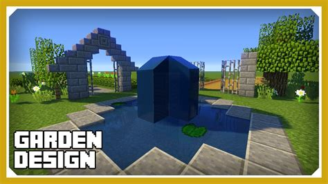 landscape design tutorial minecraft how to build a garden design tutorial easy survival minecraft house youtube