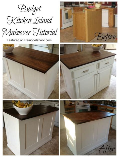 kitchen island makeover remodelaholic budget friendly board and batten kitchen 1946