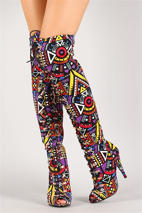 colorful thigh high boots multi colored thigh high boots bsrjc boots